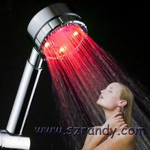 A Grade ABS Lluvia Cabeza de Ducha del LED Que Cambia de Color, Chuveiro ducha Quadrado