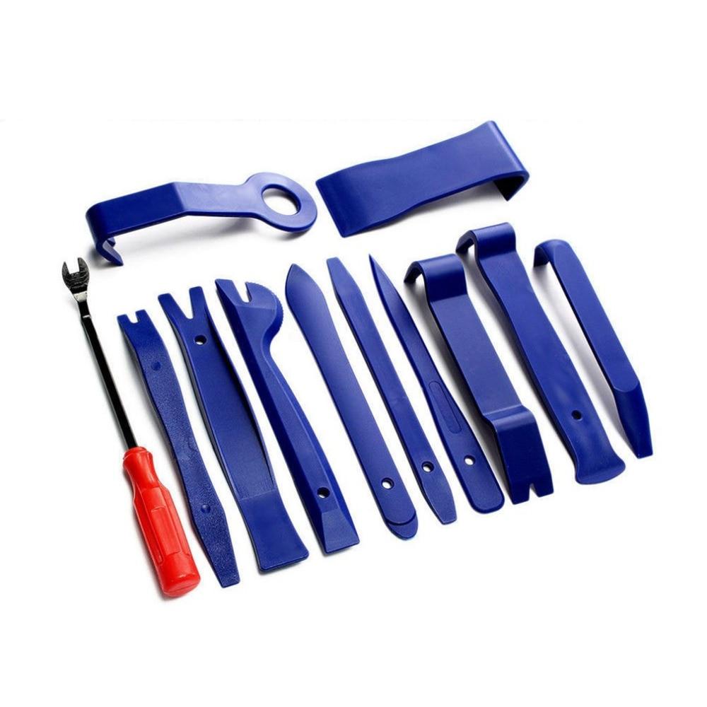 12Pcs Portable Auto Car Radio Panel Door Clip Panel Trim Dash Audio Removal Installer Tools Repair Tool Kit Hand Tools