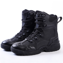 Men Tactical Boots Military Desert Combat Boots Outdoor Shoes Waterproof Breathable Wearable with Zip Boots Hiking