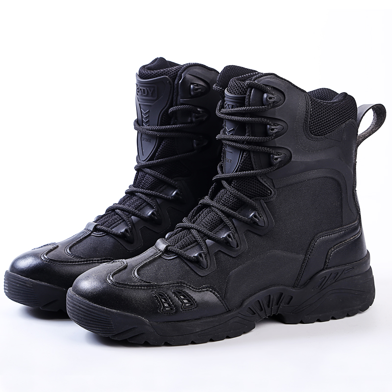 Men Tactical Boots Military Desert Combat Boots Outdoor Shoes Waterproof Breathable Wearable with Zip Boots Hiking fire maple sw28888 outdoor tactical motorcycling wild game abs helmet khaki
