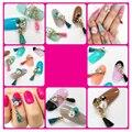 10pcs New 3d Alloy Nail Art Glitter Crystal AB Rhinestone Chain Pendant Nail Accessories Charm DIY Nail Art Decorations 21*4mm
