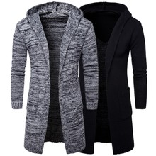 Y913 New Fashion Autumn and Winter Clothing Man Cardigan Sweaters Male hooded Cardigan Coat Men's Sweater