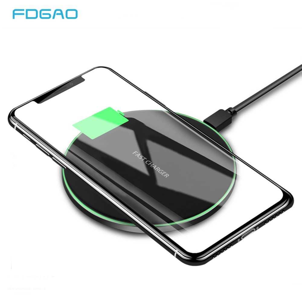 89192d36d75 Fdgao 10 W Qi cargador inalámbrico para iPhone XS Max XR 8X8 Samsung S10 S9  S8