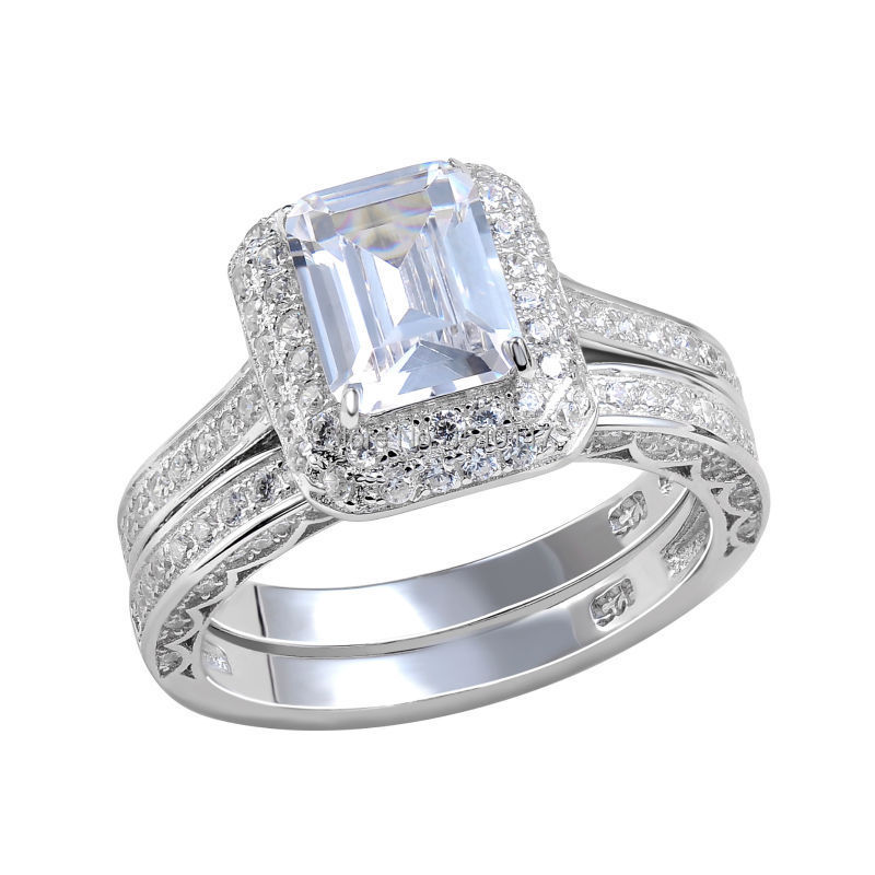 Ship From US 925 Sterling Silver Wedding Rings For Women ...