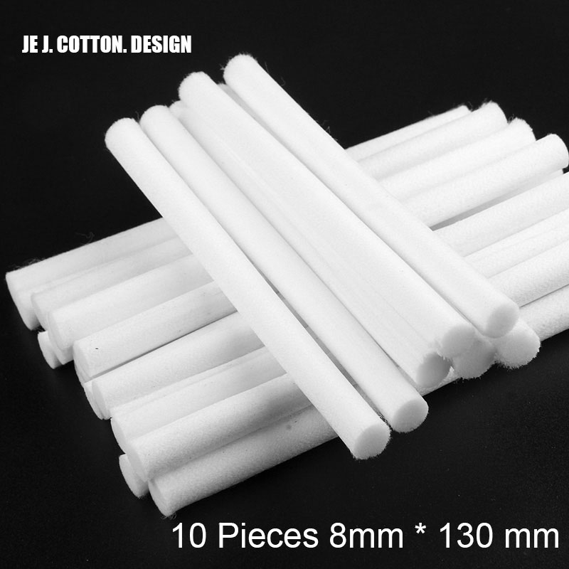 10 Pieces 8mm*130mm Humidifiers Filters Cotton Swab for USB Air Ultrasonic Humidifier Aroma Diffuser Replace Parts Can Be Cut 10 pieces lot 8mm 64mm humidifiers filters can be cut cotton swab for air humidifier