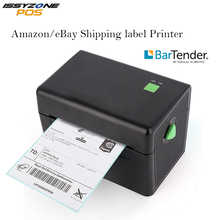 Issyzonepos High Speed Thermal Label Printer Sticker Barcode Printer 4 Inch Shipping label Mini Printing 20mm Logistic/Warehouse cheap thermal transfer barcode sticker printer printing jewelry pet hang tag label with free design software ribbon printer