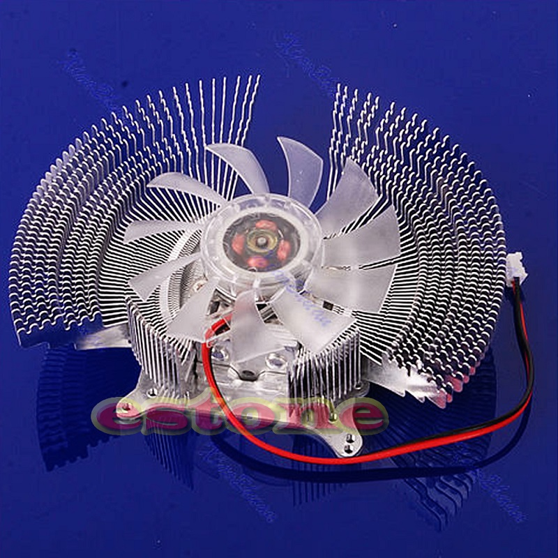 VGA Video PC Computer Card Cooler Cooling Fan Heatsinks For NVIDIA ATI Geforce - L059 New hot 55mm aluminum cooling fan heatsink cooler for pc computer cpu vga video card bronze em88