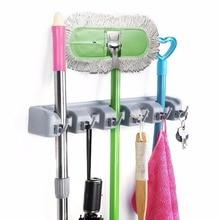 ФОТО Kitchen Organizer Wall Mounted Kitchen Shelf Storage Holder for Mop Brush Broom Mops Hanger Organizer Too