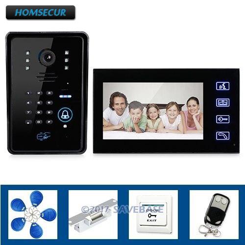 HOMSECUR Door Phone Doorbell Touch Key Video With Ir Camera With Keypad Door Lock RemoteHOMSECUR Door Phone Doorbell Touch Key Video With Ir Camera With Keypad Door Lock Remote