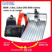 800W ,1.5kw, 2.2kw CNC 6040 Three axis CNC Router Engraver Engraving Milling Drilling Cutting Machine +Control box