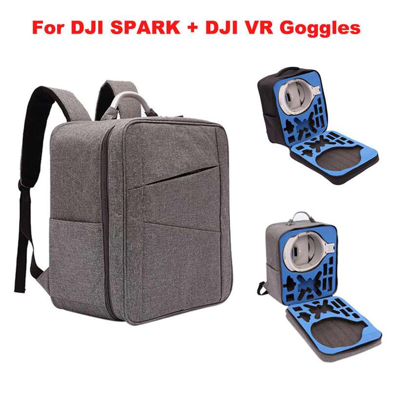 Waterproof case Shoulder Backpack Bag For DJI Spark Drone + DJI VR Goggles Aug22 Professional Factory Price Drop Shipping