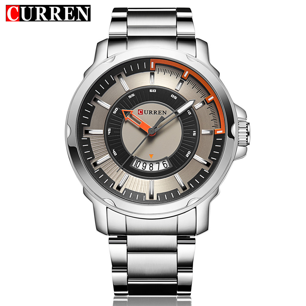 Curren Mens Watches Top Brand Luxury Quartz Watch Men Auto Date Display Casual Military Sport Watches