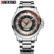 Curren Mens Relojes de Primeras Marcas de Lujo de Cuarzo Reloj Hombre Automático Fecha Display Casual Deporte Militar Relojes de Moda de Hombres Reloj de Pulsera