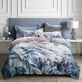 TUTUBIRD-Европейское постельное бельё из египетского хлопка, льняное мягкое шелковое постельное белье, цветочный пасторальный пододеяльник, н...