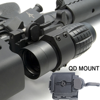WIPSON Tactical 3X Magnifier Scope Compact Sight With Flip To 20mm Rifle Gun Rail Mount