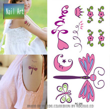 Temporary Tattoos Waterproof Tattoo Stickers Body Art Painting For Party Decoration Heart Dragonfly Creative