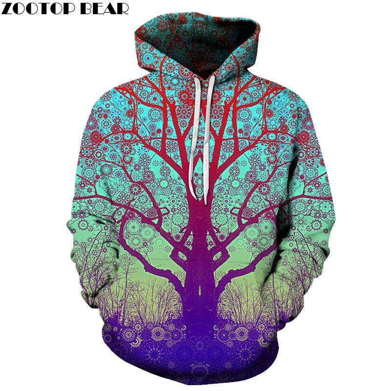 3D Tree Printed Hoodies Hot Men Women Sweatshirts Fashion Hooded Jackets 6XL Tracksuits Novelty Coats Brand Outwear Boy