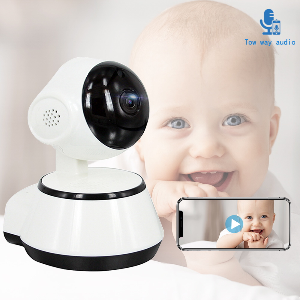1080P FHD Baby Monitor WiFi Nanny Intercom IR Night Vision Two Way Audio Real Time And Playback Wireless Portable Baby Camera