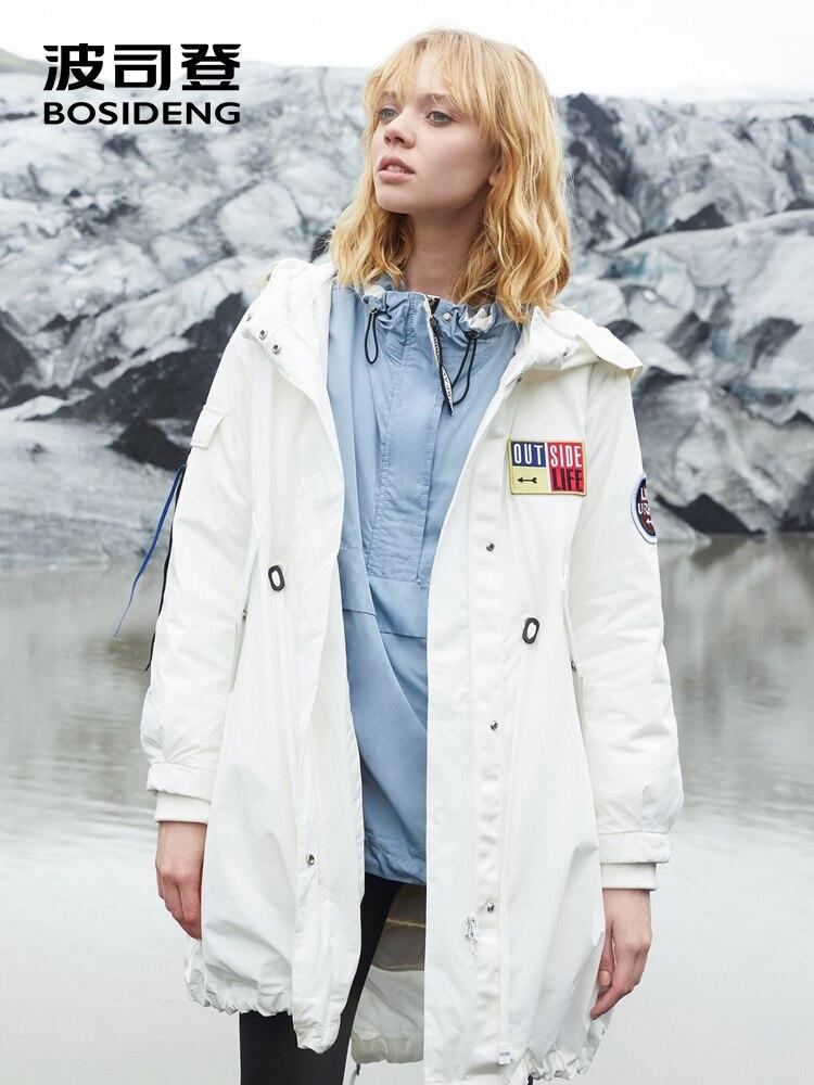 BOSIDENG 新ダウンジャケット女性の中長期ダウン着脱裏地冬のファッションウインドブレーカージャケット暖かい B80132118  グループ上の レディース衣服 からの ダウンコート の中 3