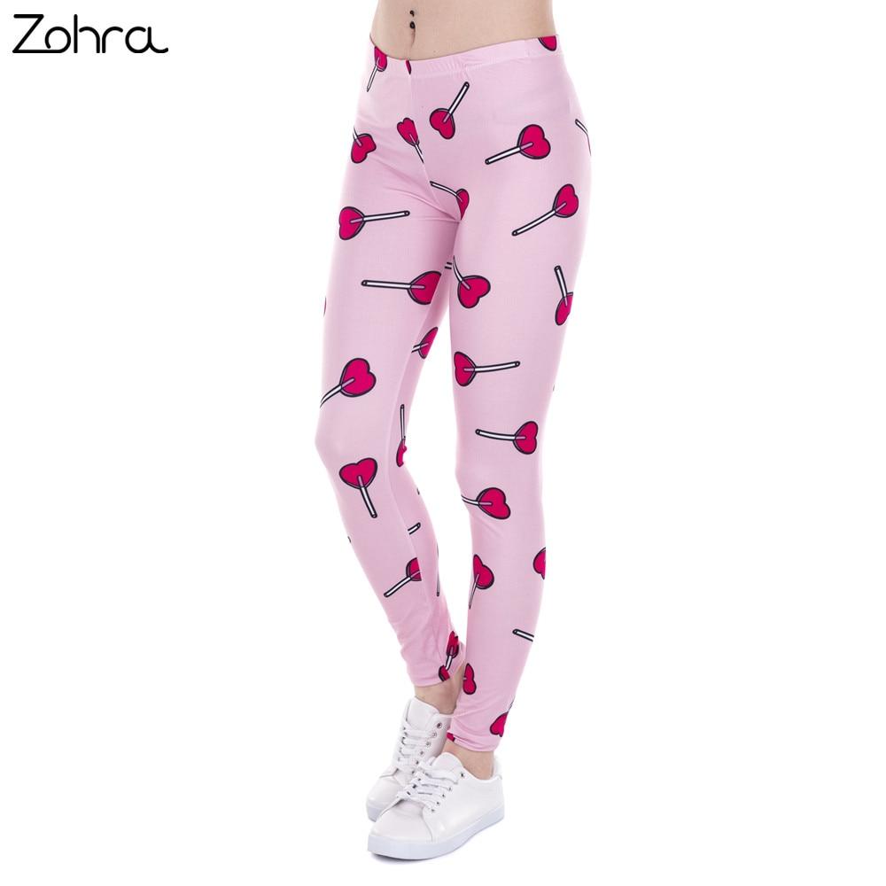 Zohra Brand Fashion Women   Leggings   Love Lollipop Printing Fitness   Legging   Sexy High Waist   Legging   For Woman Pants