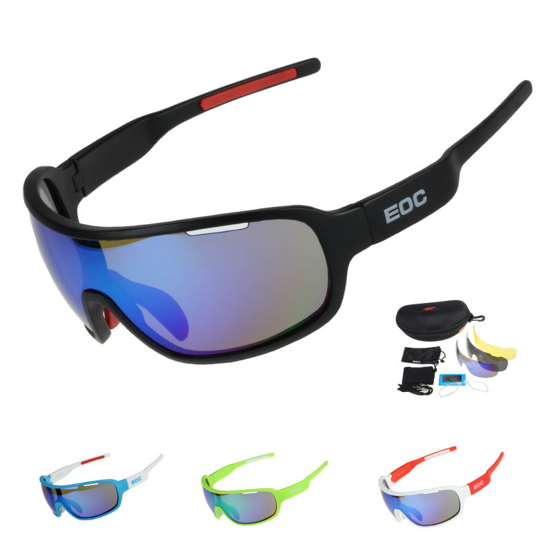 EOC Polarized Cycling Glasses Bike Riding Protection Goggles Driving  Fishing Outdoor Sports Sunglasses UV 400 3 Lens  4 Color runbird 2016 new boy tac polarized goggles children sunglasses kids protection sun glasses girls cute cool glasses r026
