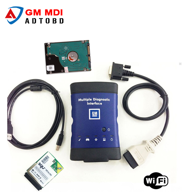2017 New arrival High Quality Diagnostic tool for GM MDI scanner for gm mdi wifi with hdd software DHL Free Shipping