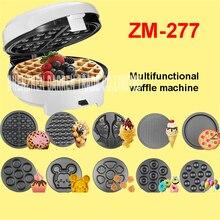ZM 277 220V Casa 7 kitchen multifunction Egg Waffle Maker Donut Machine Heart Waffle Maker Cake