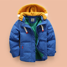 Fashion Winter Boys Jackets Thick Children Coats Zipper Hooded Kids Outwear Cotton Warm Boy Clothes Child Down Coat Clothing