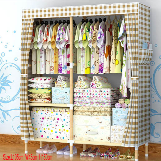 Factory Price Solid Wood Wardrobe  length 105 cm