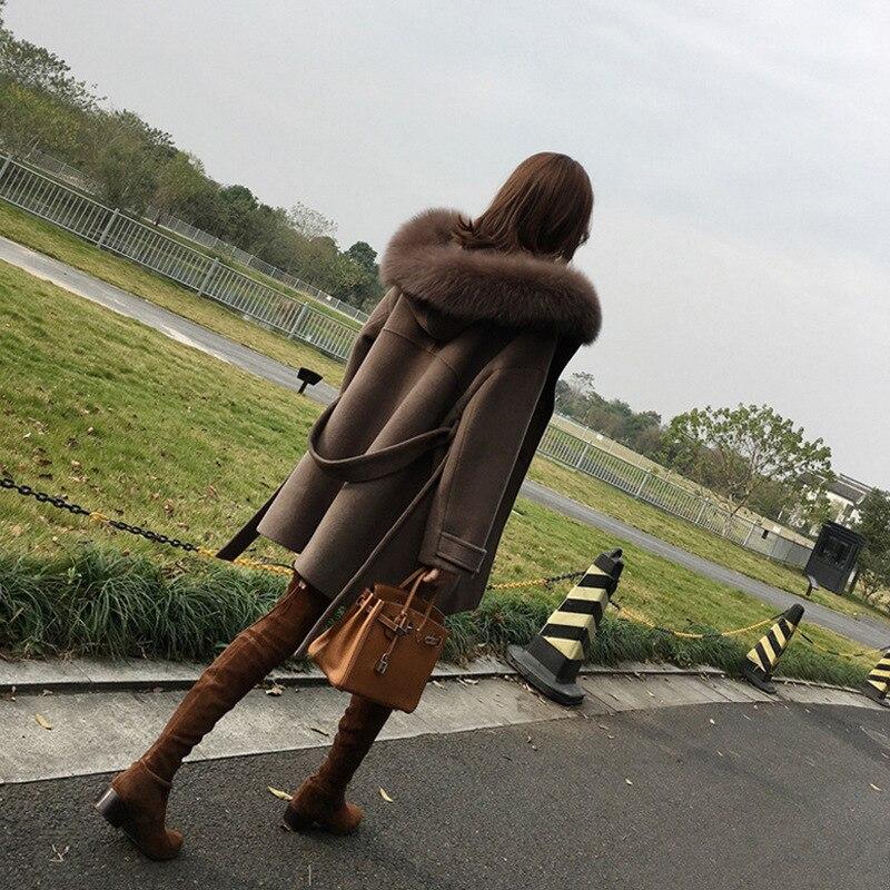 Femmes À Regular Bureau Dames Camel Mélangée Manteau Slim Capuche Dame Veste En Manteaux Laine Long Breasted Cachemire Double Solide xtqpqgZ5w
