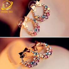 women stud earrings 2017 brinco fashion jewelry cute bowknot gothic earring boucle doreille oorbellen aretes ear studs