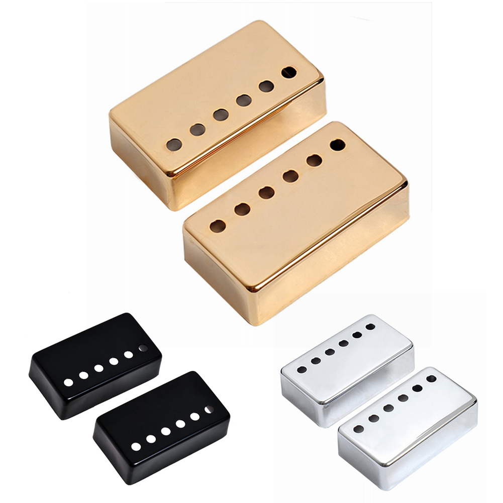 2pcs Chrome Metal Humbucker Pickup Cover 50/52mm For  Style Electric Guitar Golden Silver Black Gold Free Shipping FE5# syh 02 lp electric guitar pickup cover white silver pair