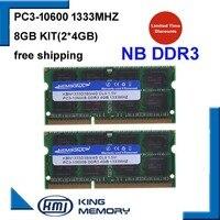 Kembona 노트북 ddr3 1333 mhz 8 gb (2x4 gb 키트) ddr3 PC3-10600s 1.5 v so-dimm 204 핀 메모리 모듈 ram memoria for laptop