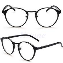 2ba8dd722bed Vintage Clear Lens Eyeglasses Frame Retro Round Men Women Unisex Nerd  Glasses Reading Glasses Frame
