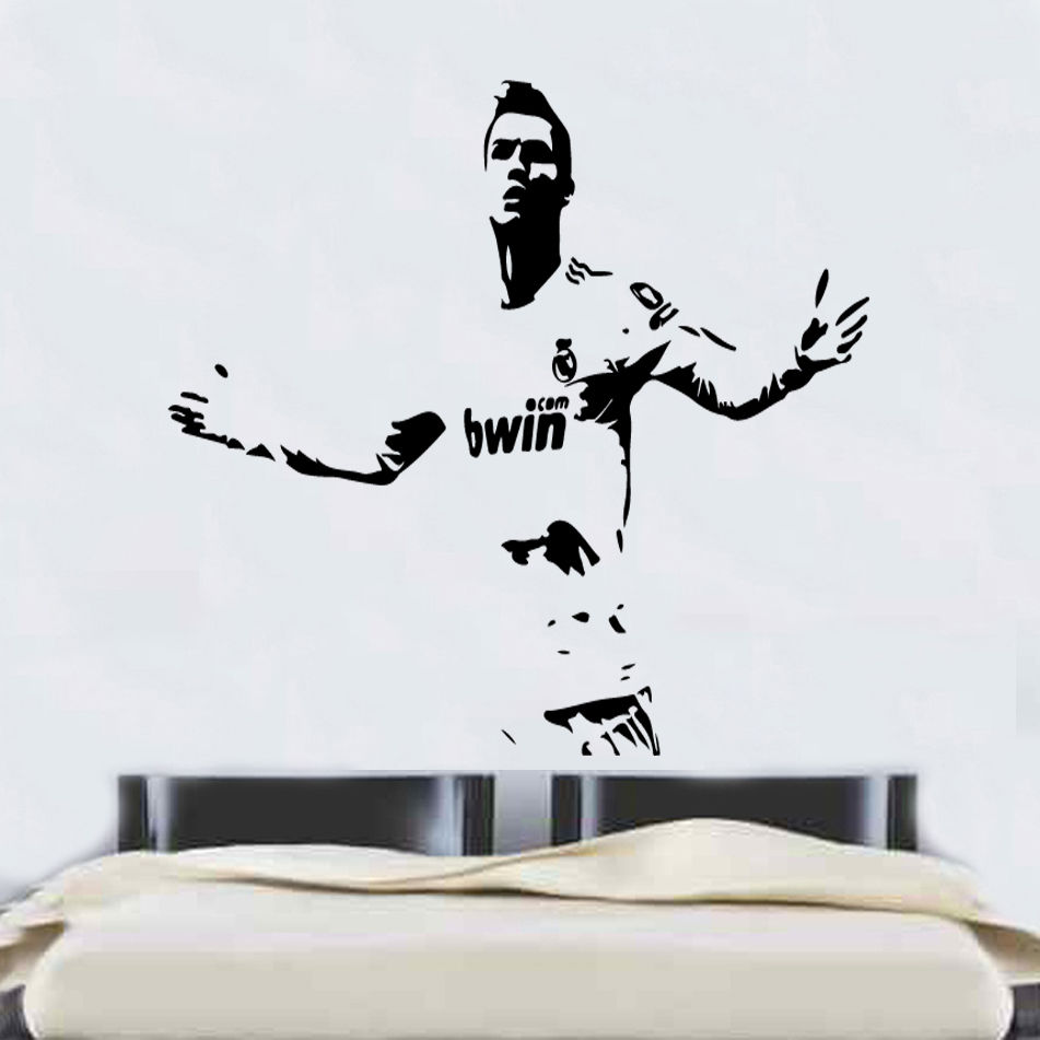 popular wall stickers ronaldo for kids rooms buy cheap wall ronaldo football player wall stickers for kids rooms cr7 cool removable vinyl art mural for boys