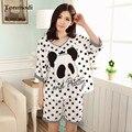 Panda Пижамы Женские Летние Pijama Feminino Пижамы Животных Тонкий Модальные Белые Точки Женщины Шорты Гостиная Набор Пижамы Девушки Пижамы
