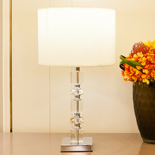 TUDA High Grade Crystal Square Table Lamps Stainless Steel Base Led Table Lamp For Bedroom Bedside Lamp Modern Table Lamps stainless steel hotsale quality cocktail table base only