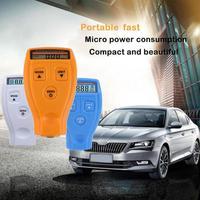 Nova pintura filme medidor testador digital mini automóvel medidor de espessura testador carro pintura espessura medidor medição ferramentas Instrumentos de medição de largura     -