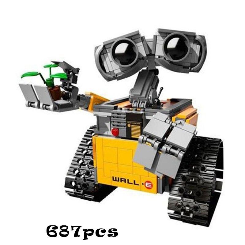 Legoing Creator 16003 Idea Robot WALL E Action Figures Building Block 687Pc Toys For Children Compatible Legoings Creators 21303Legoing Creator 16003 Idea Robot WALL E Action Figures Building Block 687Pc Toys For Children Compatible Legoings Creators 21303