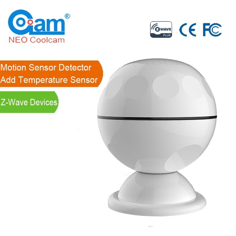 NEO Coolcam NAS-PD02ZT Z-wave PIR Motion Sensor Detector+Temperature Sensor Z Wave Home Automation Alarm System Motion Alarm все цены