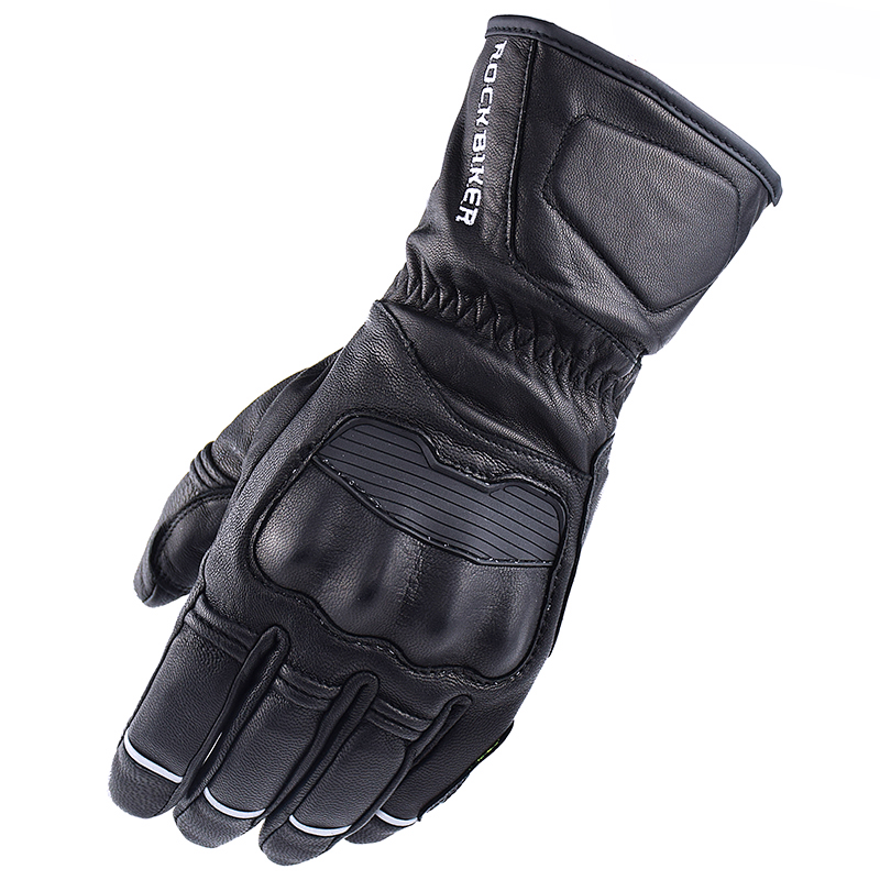 ROCK BIKER GORE TEX Winter Warm Waterproof Gloves Motorcycle Cycling Leather Windproof Gloves Riding Guantes Luvas