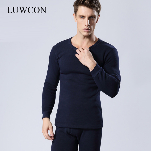 huge selection of 3e6a9 91500 US $15.77 50% OFF|LUWCON Marke Unterwäsche Lange Unterhosen Winter Herren  Warme Thermo unterwäsche Hinzufügen wolle Lange Unterhosen Dicke Plus ...