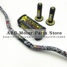 "Rockstar Lenker Pads PRO Taper Griff Griffe Metall Mulisha Pack Fat Bar 1-1/8 ""Pit Bike Motocross Motorrad lenker 810mm"