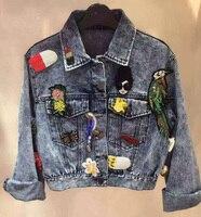 Модная куртка женщин, уникальный джинсовая куртка повседневная Chaquetas Mujer, женские пальто из основной коллекции, осень casaco feminino удивительные