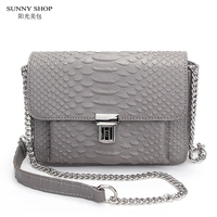 American Brand Designer Luxury Mini Women Leather Bag Genuine Leather Crossbody Bag High Quality Serpentine Pattern