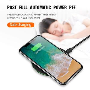 Image 4 - NTONPOWER 10W Fast Wireless Charger For iPhone X 8 XS Max XR Qi Wireless Charger for Samsung S8 S9 Plus USB Phone Charger Pad