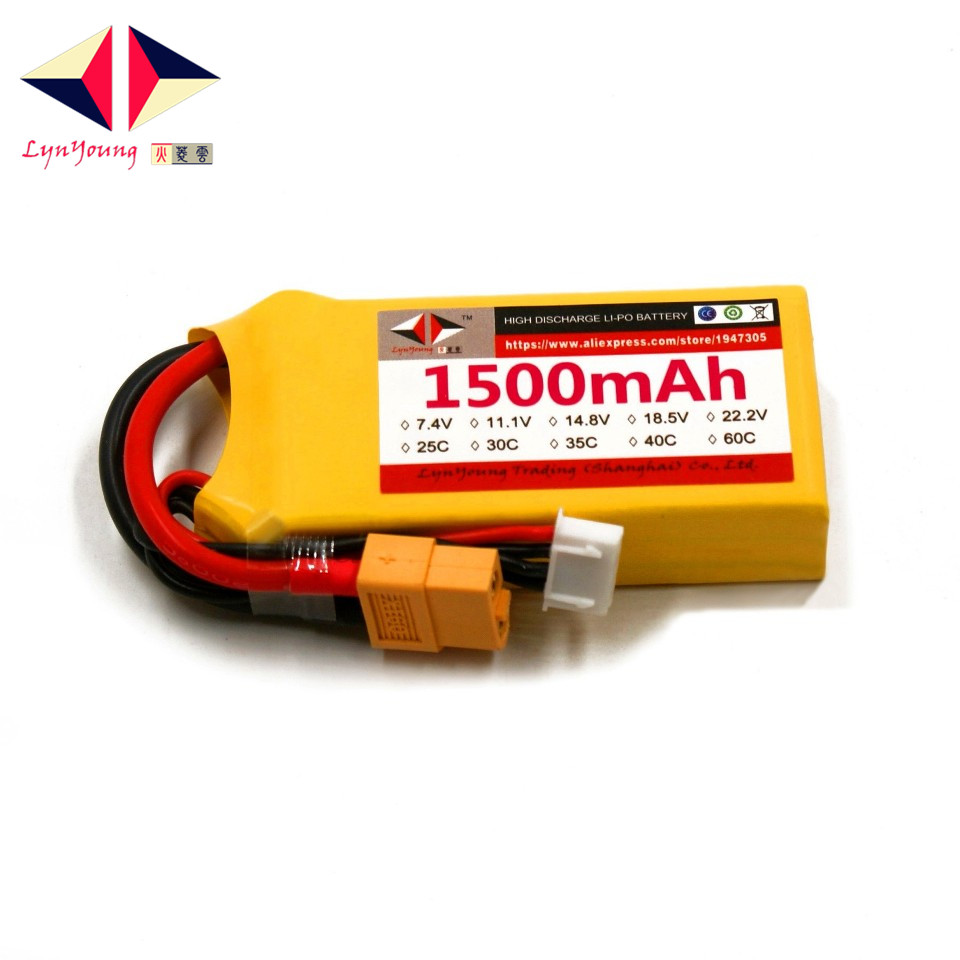 HX Lipo Battery <font><b>3S</b></font> 11.1V <font><b>1500mah</b></font> 25C 30C 35C 40C 60C For RC Drone Quadcopter Helicopter Airplane Boat Car image