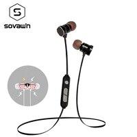 Sovawin X3 бренд Магнитный всасывания Bluetooth 4.1 наушники Беспроводной Спорт Бег гарнитуры громкой связи С микрофоном для iphone