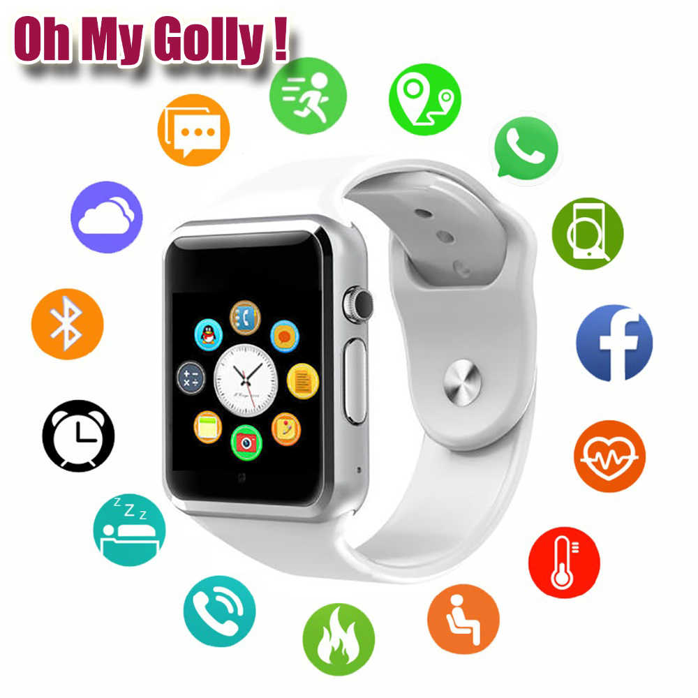 Oh My Golly 2019 New Smart Watch Clock Sync Notifier Support SIM TF Card Connectivity Apple iphone Android Phone Smartwatch GT08