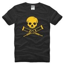 New Designer Jackass T Shirts Men Fashion Short sleeve Cotton Men's T-shirt MTV Show Jackass Skull Casual Tops Tee Movie Clothes